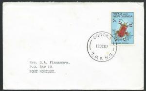 PAPUA NEW GUINEA 1967 cover - 5c beetle - GOROKA cds.......................25703