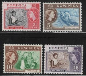 DOMINICA Scott 157-160 MH* 1957 set