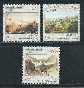 Palestine Authority 158-60 2000 City Views set MNH