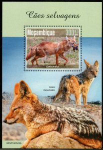 MOZAMBIQUE 2019  WILD DOGS SOUVENIR SHEET MINT NEVER HINGED