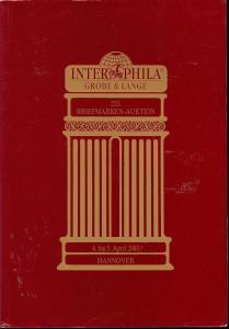 233. Briefmarken-Auktion, Interphila, Grobe & Lange  Apri...
