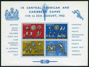 Jamaica 200a,MNH.Michel Bl.1. Central American,Caribbean Games,1962.