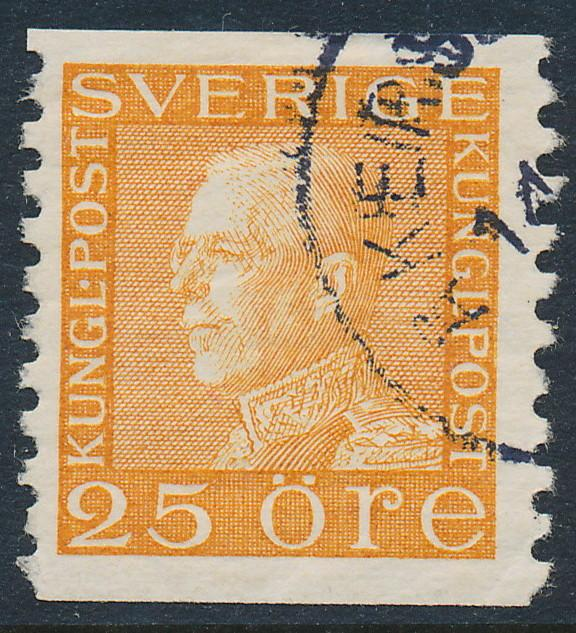 Sweden Scott 177 (Fa 184), 25ö orange Gustav V, F-VF Used