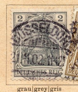 Germany 1902 Early Issue Fine Used 2pf. NW-08298