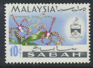 SABAH SG 428  SC# 21 MVLH* Flower  see scans /details