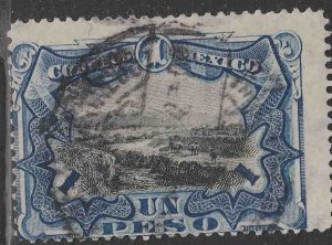 MEXICO 302, $1P VIEW OF POPOCATEPETL VOLCANO. USED. G-F. (902)