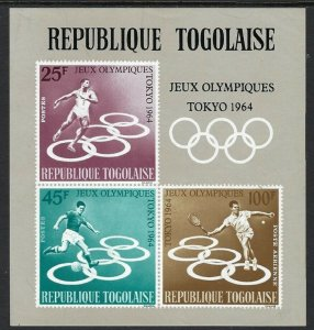 1964 Togo 437-439/B15b 1964 Olympic Games in Tokio
