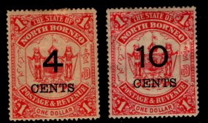 North Borneo - SG# 87 & 88 MHH (rem)   /   Lot 1119157