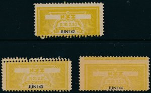 Stamp Germany Revenue WWII 3rd Reich NSZ National Newspaper Set June MNG 2