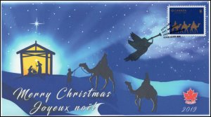 CA19-048, 2019, Christmas, Pictorial Postmark, First Day Cover, Nativity Setting
