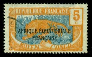 Middle Congo 1924 #26 U SCV(2018)=$0.50
