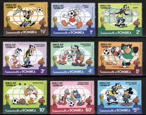 DOMINICA Scott 744-752 MNH** ESPANA 82 World cup Disney set