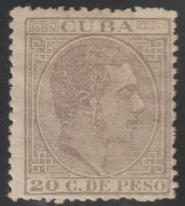 1888 Cuba Stamps Sc 131 King Alfonso Spain  NEW