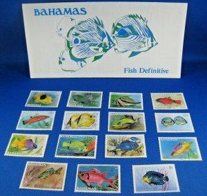 BAHAMAS 1986  -  SCOTT # 604-618  MNH     (SM1)