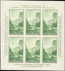 751 Mint,OG,NH... Souvenir Sheet... SCV $15.00... Stock photo