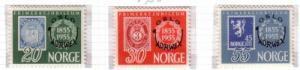 Norway Sc 340-2 1955 Philaltelic Exhibition stamps mint NH