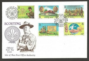 1982 Scouts 75th anniversary Isle of Man FDC