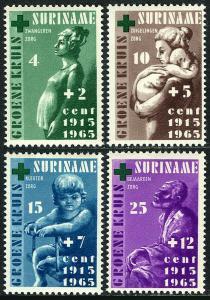 Surinam B112-B115, MNH.Public Health Services.Mother & child,Pregnant woman,1965