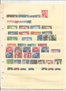 ADEN COLLECTION ON STOCK SHEET, MINT/USED