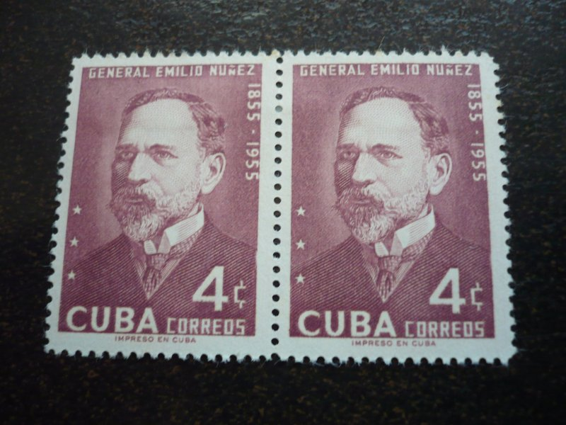 Stamps - Cuba - Scott# 549 - Mint Hinged Single Stamp in Pairs