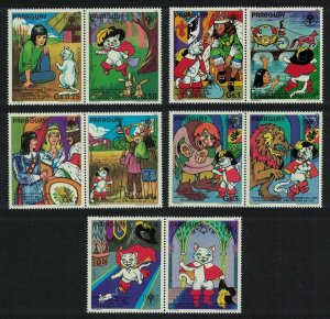 Paraguay MNH Set Of 10 Puss & Boots Fairy Tales