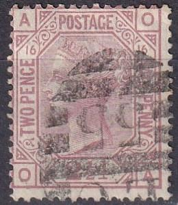 Great Britain #67 Plate 16 F-VF Used  CV $60.00 (A19490)