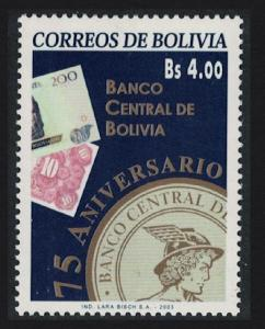 Bolivia 75th Anniversary of Central Bank SG#1640