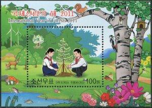 Korea 2011. International Year of the Woods (MNH OG) Souvenir Sheet