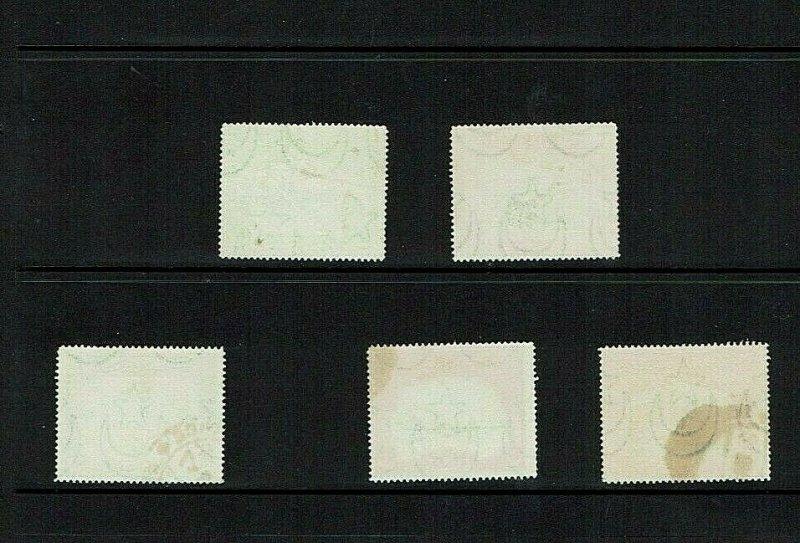 Bahawalpur: : 1945, Official overprints,  good used part set SG O1-3, 5/6