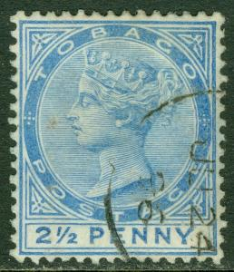 EDW1949SELL : TOBAGO 1883 Stanley Gibbons #16ca (slash flaw repaired) Cat £140.