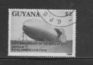 GUYANA #2007a 1989 ZEPPELIN MINT VF NH O.G CTO