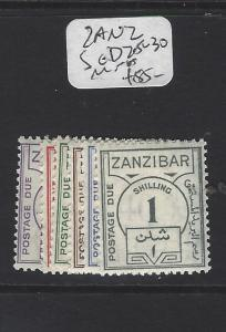 ZANZIBAR   (PP3107B)  POSTAGE DUES SG D25-30  MNH