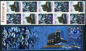 Faroe 293-294a booklet,MNH.Michel 289-290 MH. Catholic Church of Mary,1995.