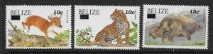 BELIZE SG1312/4 2004 WILDLIFE SURCHARGE SET MNH
