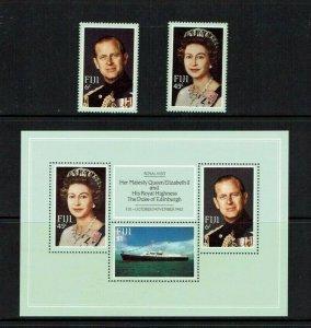 Fiji: 1982 Royal Visit, Set + M/S  MNH.