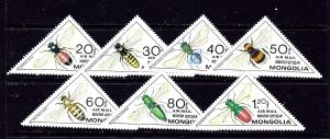 Mongolia C129-35 MNH 1980 Insects