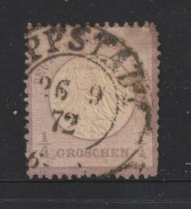 Germany a used 1/4gr eagle small shield