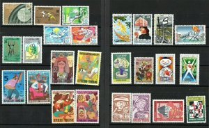 1972- Tunisia - Tunisie- Full year- Année complète - 25 stamps- 25 timbres MNH**