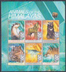 1999 Bhutan 2034-2039KL Fauna 9,00 €