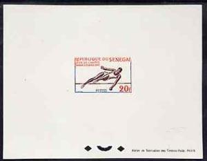 Senegal 1963 Dakar Games 20f High Jump epreuve de luxe sh...