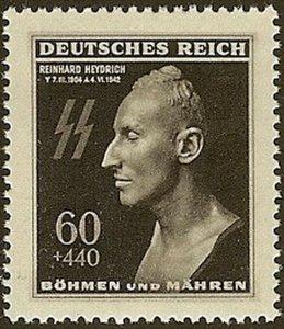Stamp Germany Bohemia Czechoslovakia Mi 131 Sc B20 1940 WWII 3 Reich Reinhard MH