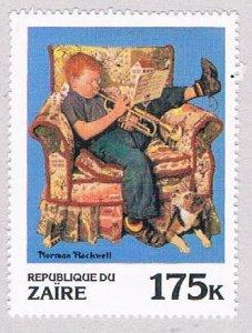 Zaire 1011 MNH Rockwell Trumpeter 1981 (Z0025)+