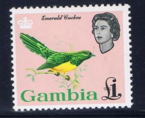Gambia 187 Never Hinged 1964 One pound value