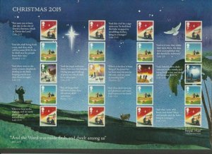 2015 CHRISTMAS SMILER SHEET  -  LS97 - UNMOUNTED MINT