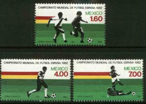 MEXICO 1278-1280 FIFA Soccer World Cup MINT, NH. VF.