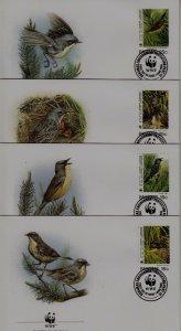 Bahamas 829-29c FDC WWF-95/Birds