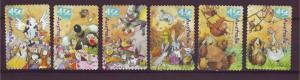 J12795 JLstamps 2001 australia set of 6 used #2012-7 animated animals
