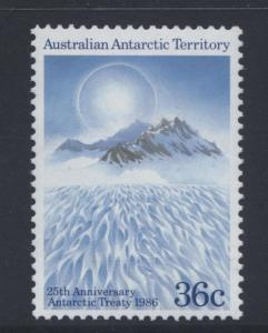 Australian Ant.Terr.- Scott L75- Antarctic Treaty - 1986 - MNH - 36c Multi.