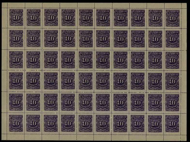 Salvador MNH cpl.sheet of 60,postage due(1)