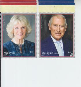 2017 Malaysia Prince Charles Royal Visit (2)  (Scott 1716-17) mnh
